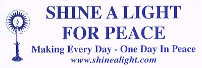 Shine A Light Bumper Sticker